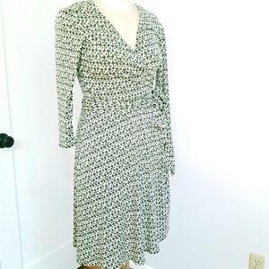 Donna Morgan green and white dot dress